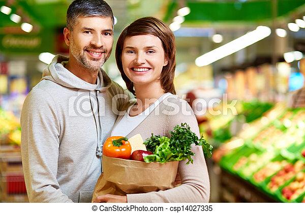 Healthy food eaters - csp14027335