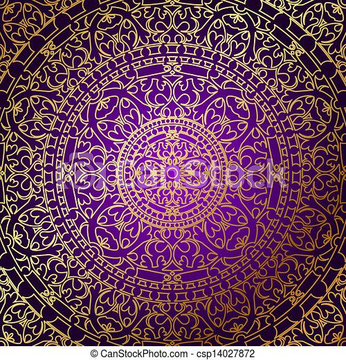 vektoren illustration von lila hintergrund gold ornamen vektor orientalische. Black Bedroom Furniture Sets. Home Design Ideas