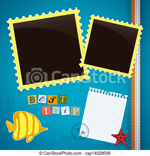 Summer journey memory book - csp14029006