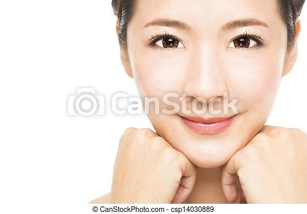 close up beautiful young Woman face  - csp14030889