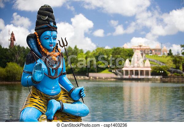 image de seigneur shiva shiva statue et hindou temple csp1403236 recherchez des. Black Bedroom Furniture Sets. Home Design Ideas