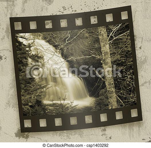 bosque, cascadas - csp1403292