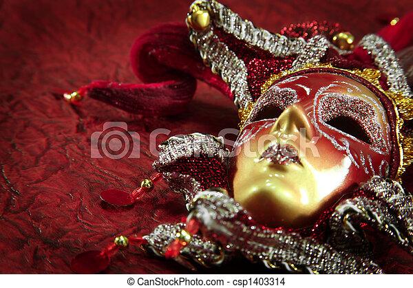 ornate carnival mask - csp1403314