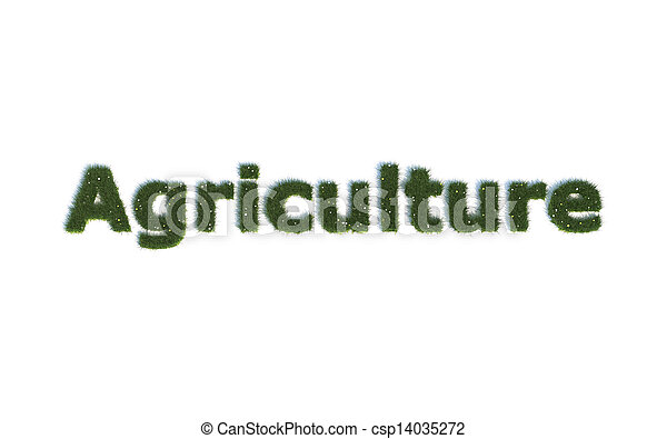 Agriculture out of realistic Grass - csp14035272