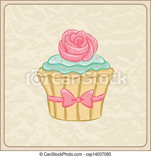 vektor von cupcake karte hand gezeichnet sketchy cupcake csp14037085 suchen sie nach. Black Bedroom Furniture Sets. Home Design Ideas
