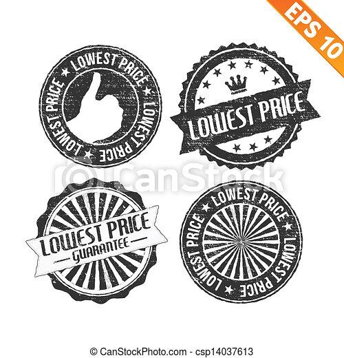 Lowest Price Icon Stamp Sticker Lowest Price