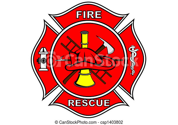 clip art of firefighter patch a firefighter patch with
