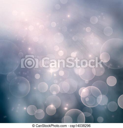 Bokeh winter Christmas holiday background - csp14038296