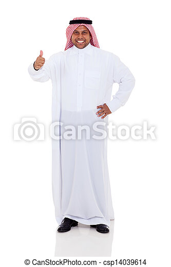 arabic man giving thumb up - csp14039614
