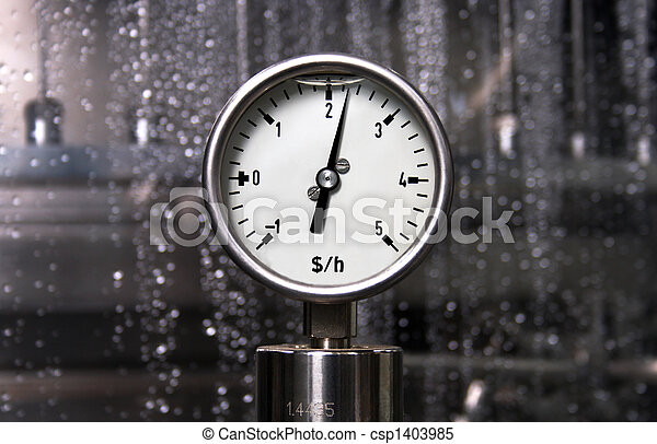 Measurement - Dollar per hour - csp1403985