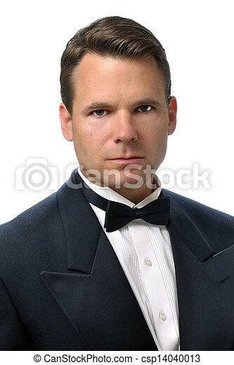 Handsome Man In Tux Stock photo - man in tuxHandsome Man In Tux