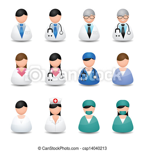 Vector Clip Art of Medical people - icons vector csp14040213 ...