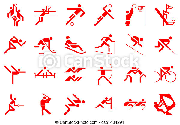 Clipart of olympic games 24 sports illustration csp1404291 ...