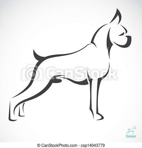 Vector image of an dog(boxer) - csp14043779