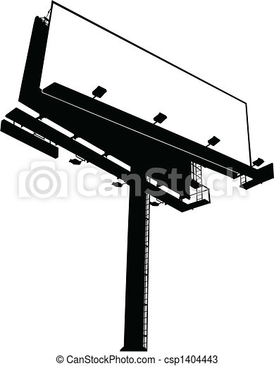 Billboard Sign (Clear) - csp1404443