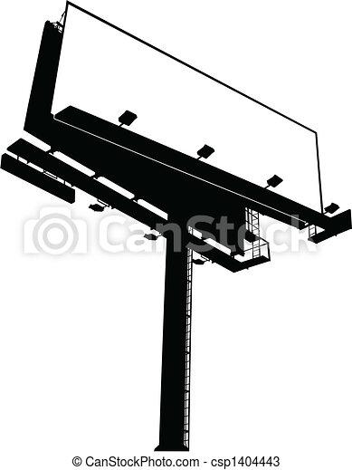 Billboard Sign (Clear) - csp1404443