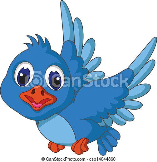 Flying Blue Bird Clip Art Funny Blue Bird Cartoon Flying