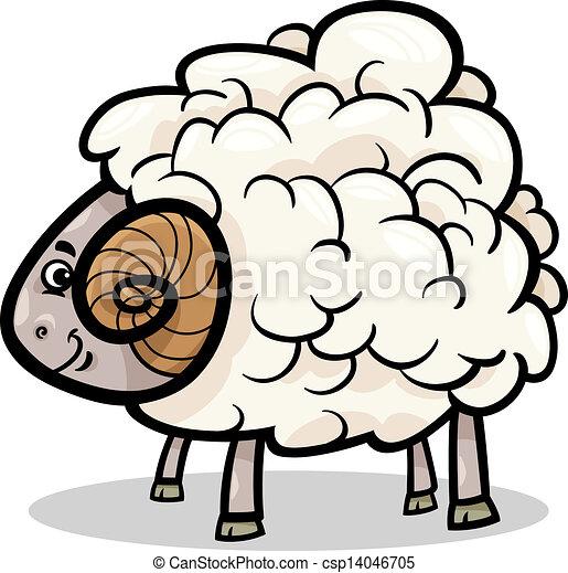 Clipart vettoriali di ariete fattoria animale cartone - Animale cartone animato immagini gratis ...