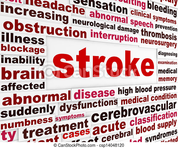 Stroke medical warning message - csp14048120
