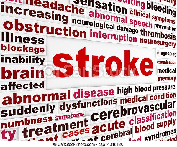 Stroke medical warning message - csp14048120
