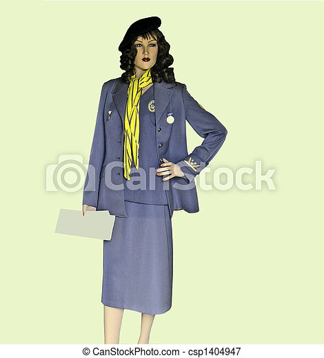 stock photo vintage uniform