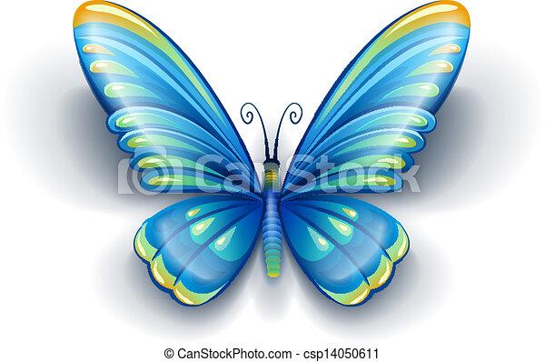 Vector Clip Art de azul, mariposa, Color, alas - azul, mariposa ...