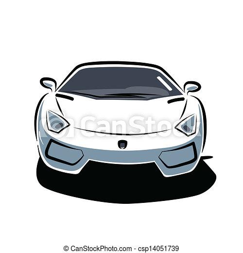 vector voorkant auto sportende voorkant