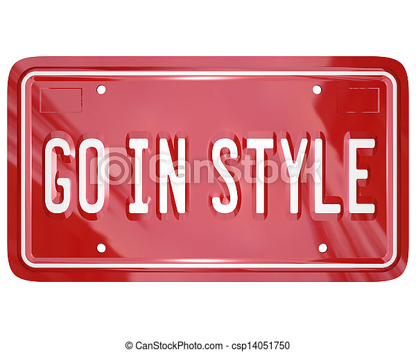 Go In Style Vanity License Plate Car Automobile Vehicle - csp14051750