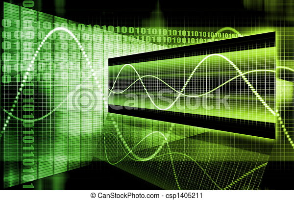 Green Futuristic Business Chart - csp1405211