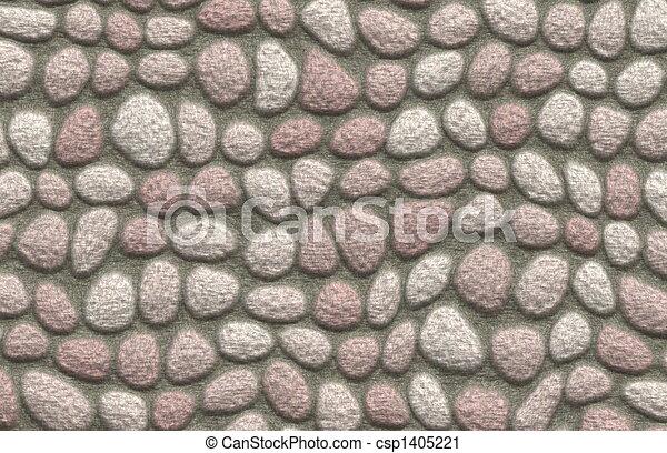 Rock Cobblestone Pavement - csp1405221