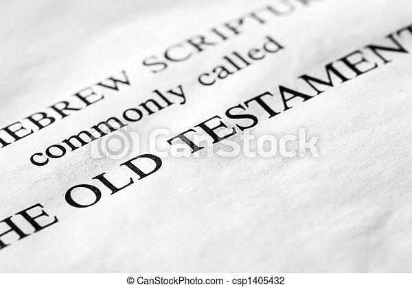 Old Testament - csp1405432