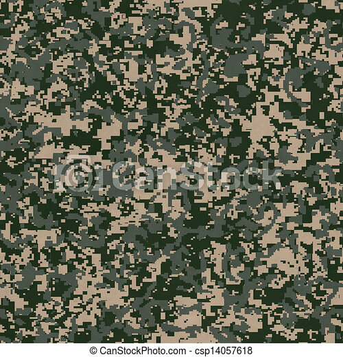 Military Fabric Pattern. Seamless Texture. - csp14057618