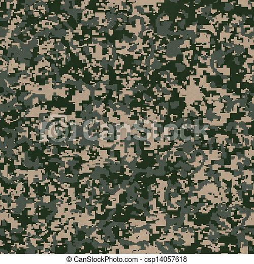 Military Fabric Pattern. Seamless Texture. - csp14057618