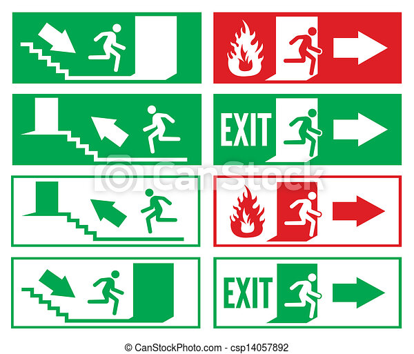 Emergency exit sign  - csp14057892