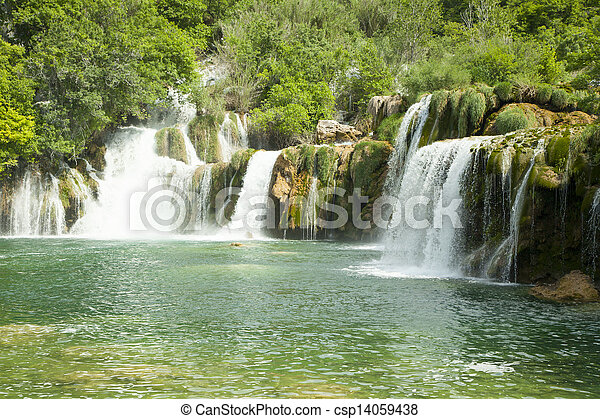 Waterfalls in national park. - csp14059438