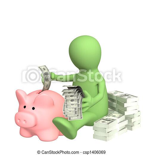 Piggy bank - csp1406069