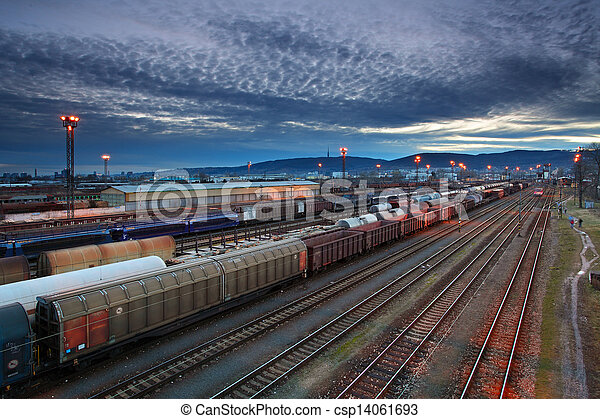 Cargo transportatio with Trains and Railways - csp14061693