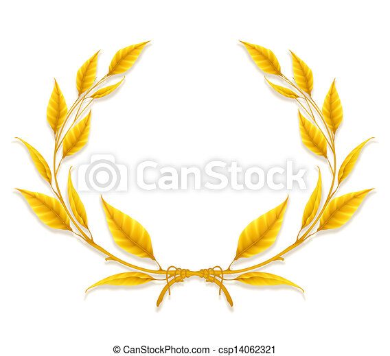 Laurel Wreath, Design Element - csp14062321