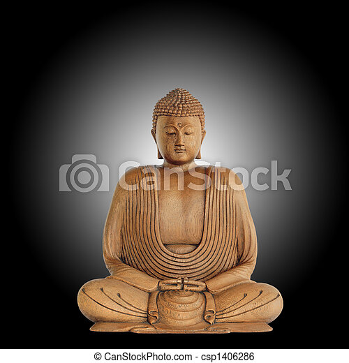 símbolo, paz, buddha - csp1406286