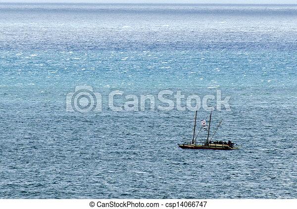 Waka Tapu Historic Voyage Arrived Home - csp14066747