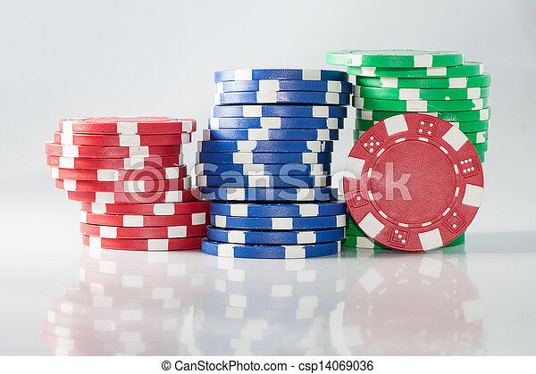 gambling casino chips - csp14069036