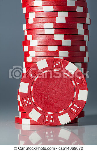 gambling casino chips - csp14069072
