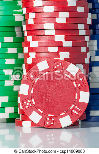 gambling casino chips - csp14069080