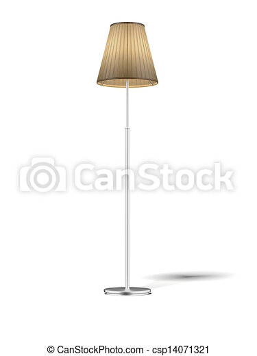 Clip Art Of Floor Lamp Isolated On White Floor Lamp