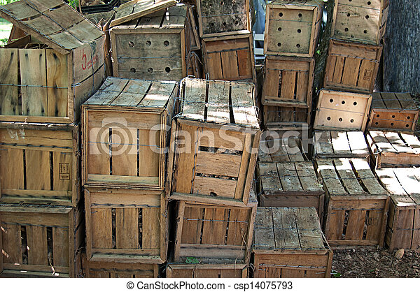 Wooden Warehouse Crates Stock Photo Wooden Crates