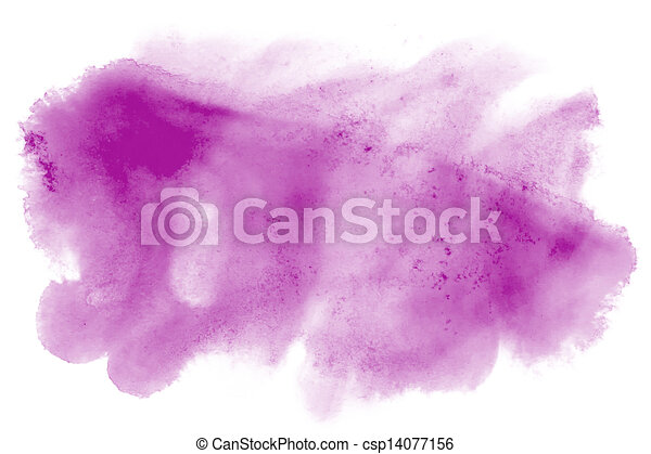 paint stroke splatters color watercolor abstract water purple  brush watercolour red texture ink painting isolated - csp14077156