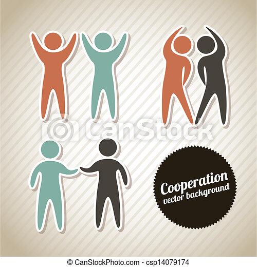 cooperation icons - csp14079174
