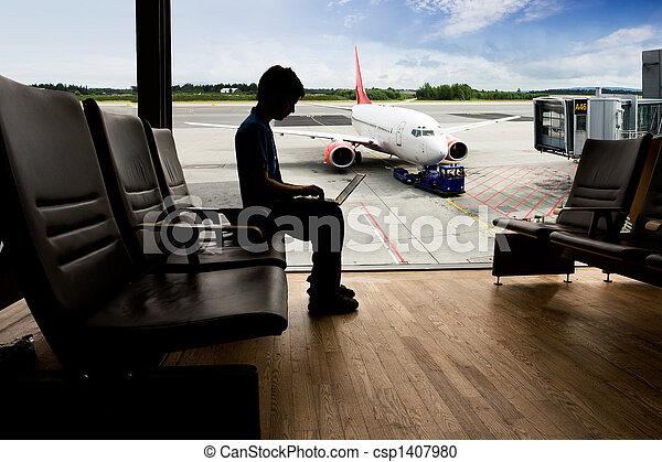 Airport Terminal  Computer - csp1407980