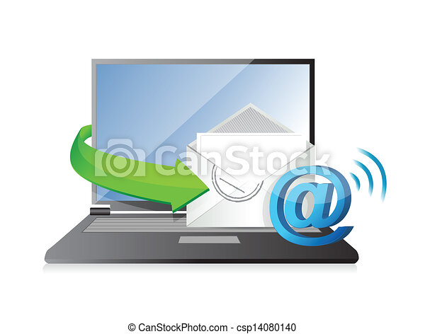 receiving an email. illustration - csp14080140