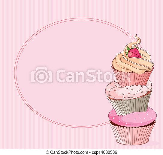 Cupcake place card - csp14080586
